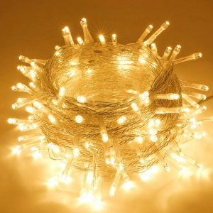 8 Modes – 10 Meter 100 Led Fairy String Light Power Point, Warm White