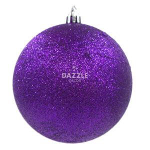 Glitter Purple Bauble